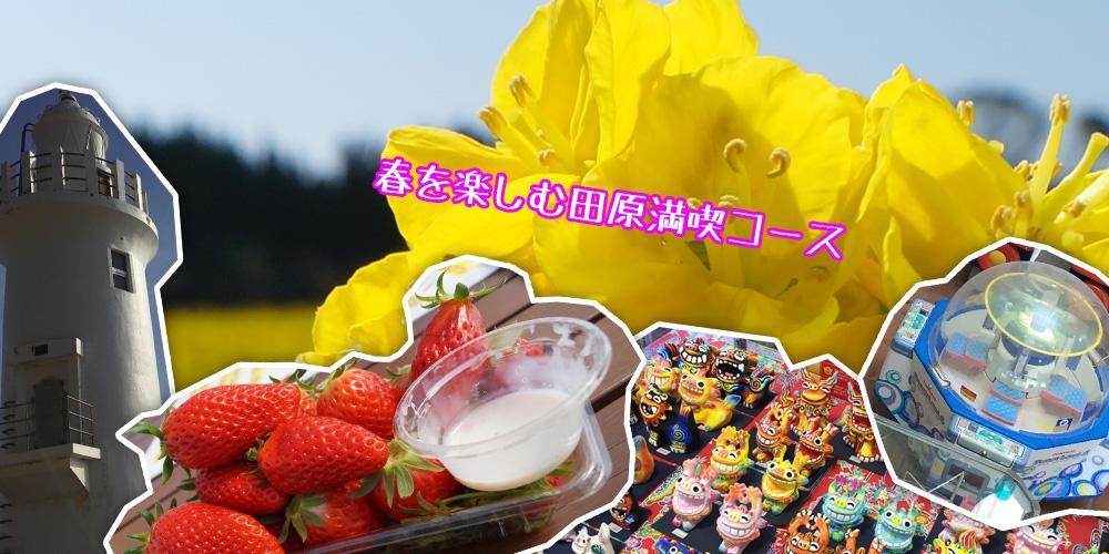 春を楽しむ田原満喫コース